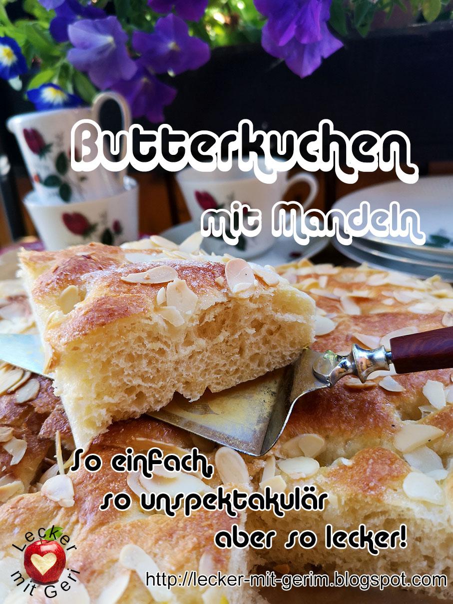 Lecker mit Geri Butterkuchen mit Mandeln   Маслен сладкиш с бадеми