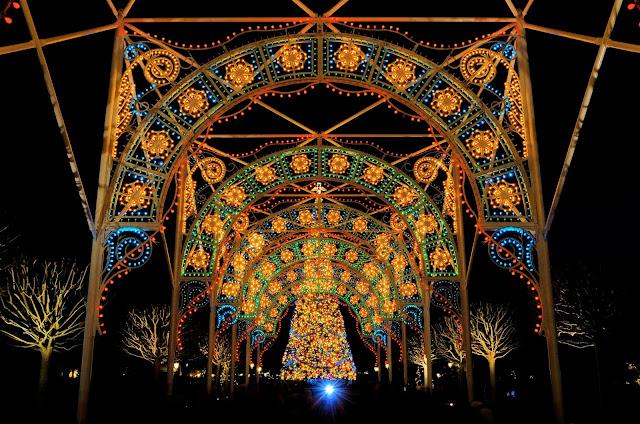 Decoração de Natal no parque Disney Epcot em Orlando