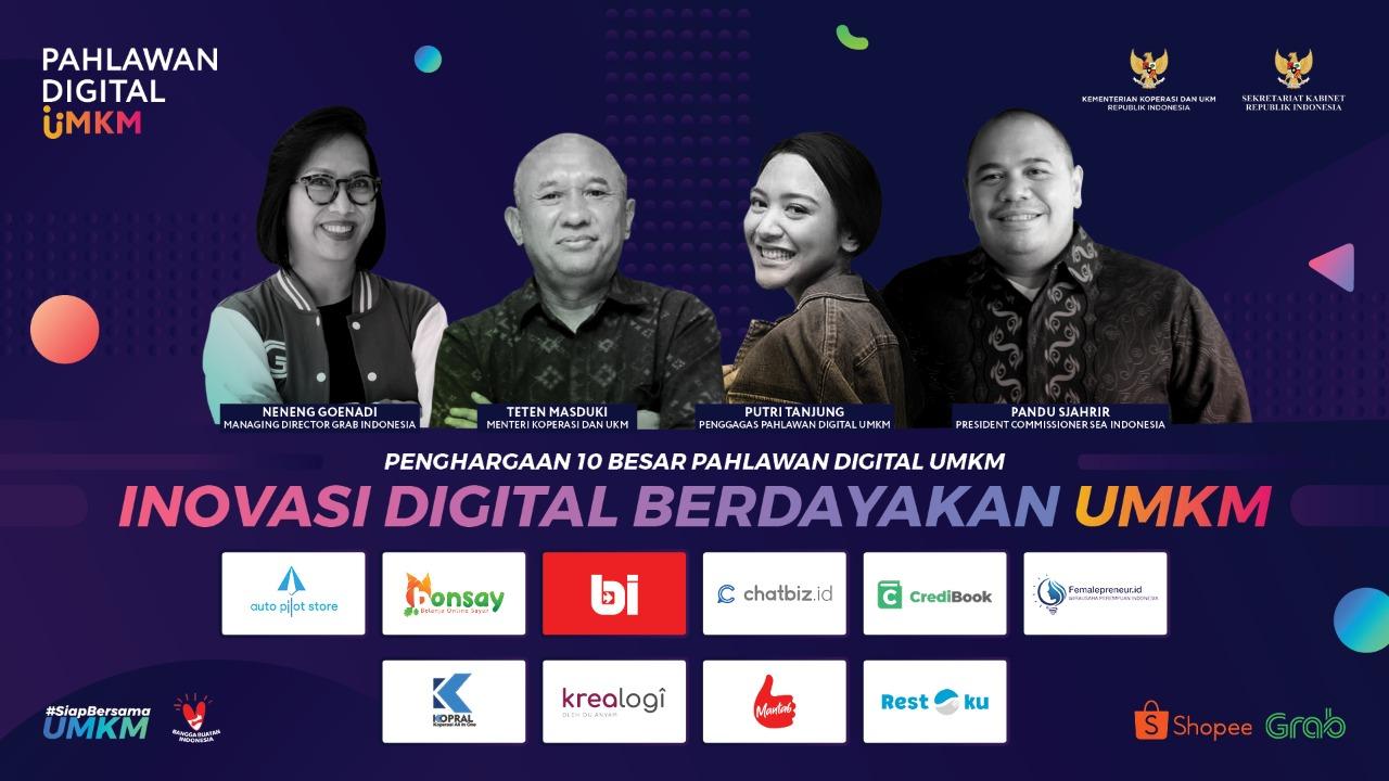 Inovator Terbaik Program Pahlawan Digital UMKM