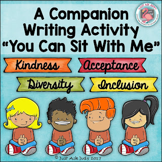 "This free resource, perfect for first and second graders, invites students to create a written response to the book ""You Can Sit With Me""."