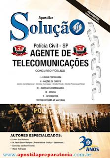 Apostila Polícia Civil de SP - PC-SP para Agente de Telecomunicações.