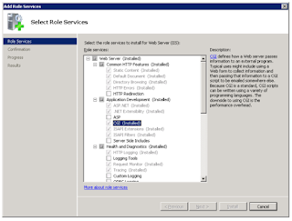Enabling FastCGI support in IIS