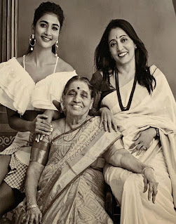 Pooja Hedge with her family,