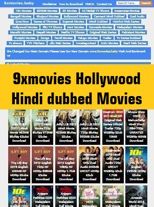 9xmovies Hollywood Hindi dubbed Movies download