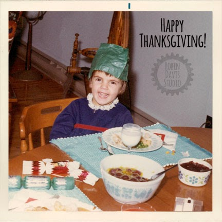 me at Thanksgiving dinner 1970/1971 | Robin Davis Studio