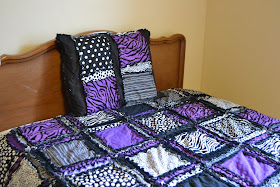 Purple and Black Bedding for Dorm Room Girl