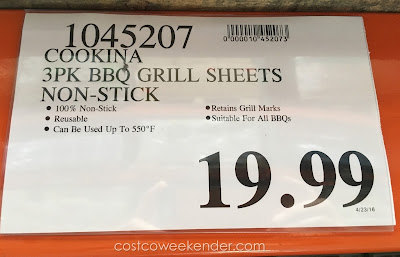 Deal for a 3 pack of Cookina BBQ Non-Stick Grilling Sheets at Costco