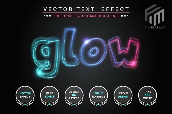 Quivering Glow Editable Text Effect Font Style