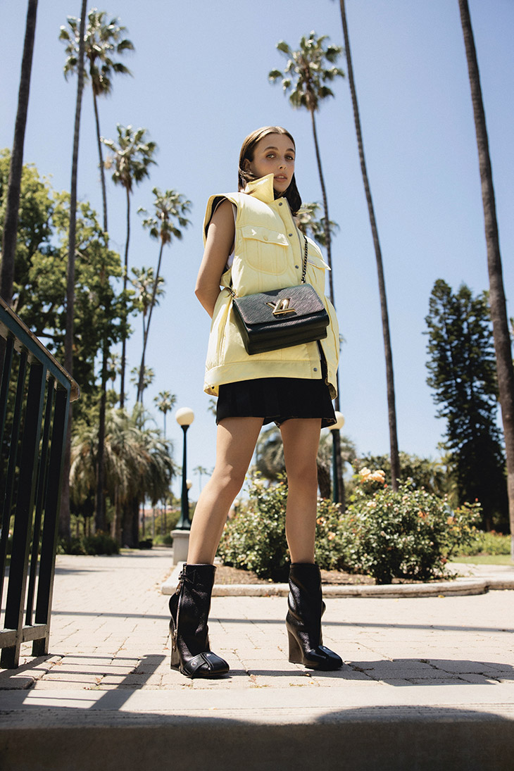Emma Chamberlain in Louis Vuitton FW21 Shoes