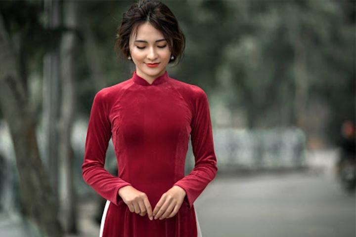Các loại vải may áo dài thanh lịch, nữ tính
