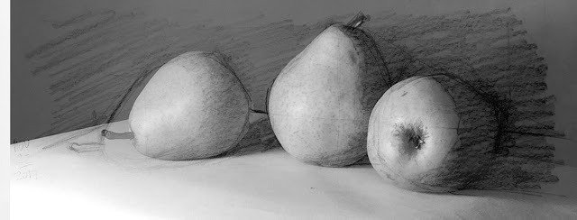 Daily Art 11-22-17 still life sketch in graphite number 26 - sketch over photo