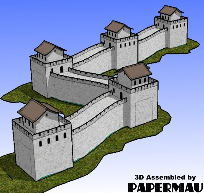 PAPERMAU: The Great Wall Of China Paper Model - by Paper Toys Com