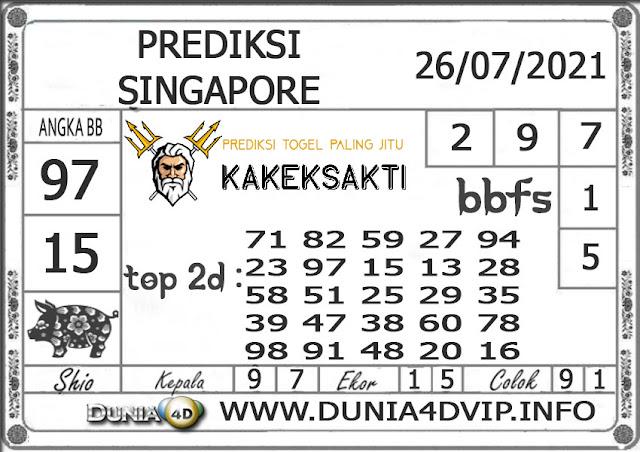 Prediksi Togel SINGAPORE DUNIA4D 26 JULI 2021