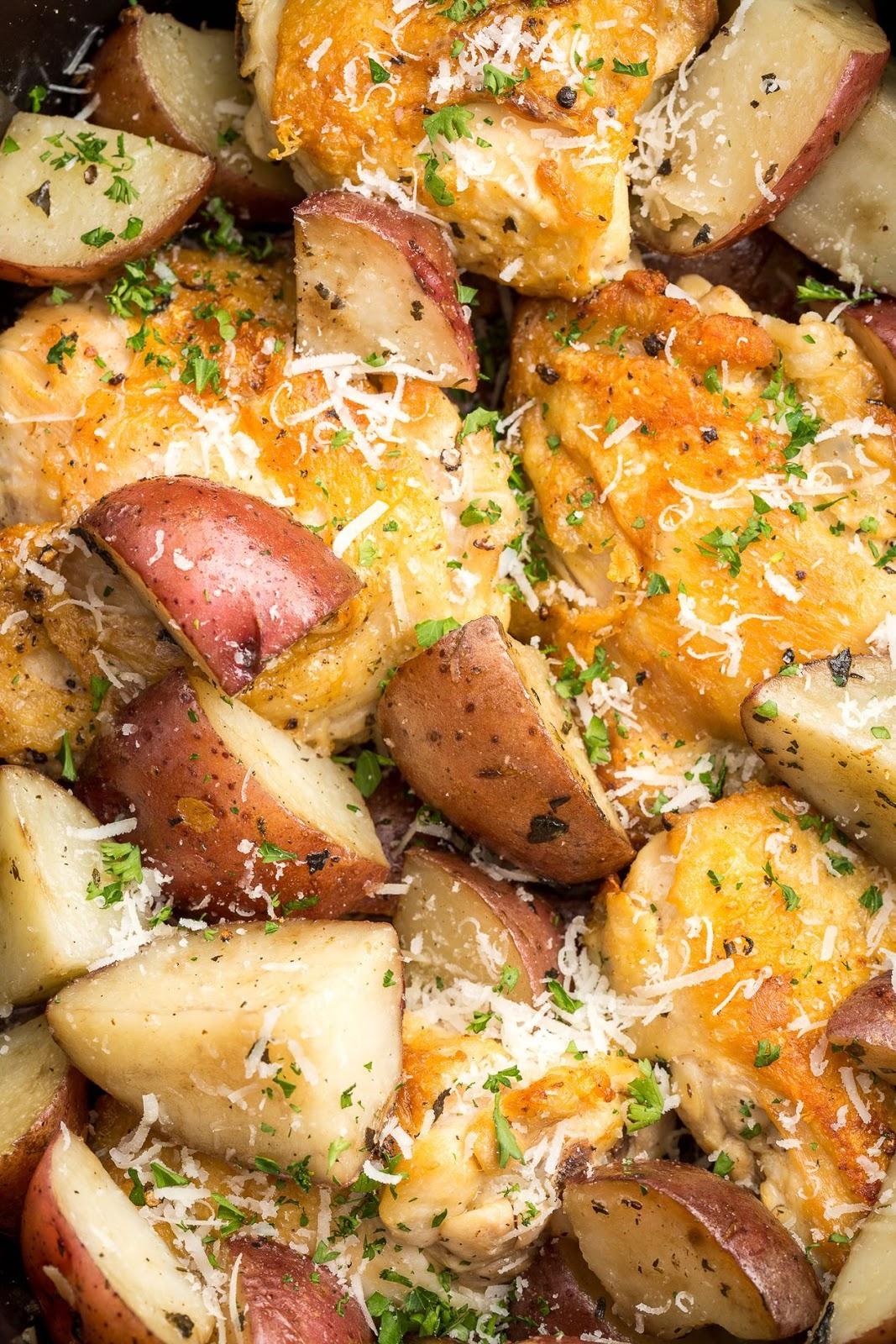 Incredible Slow Cooker Garlic Parmesan Chicken