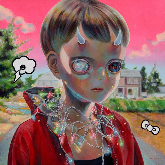 "obras de arte, pintura, pop art, cool pictures, imagenes chidas, sad | ""Children on the Edge - 3D #2"" by Hikari Shimoda"