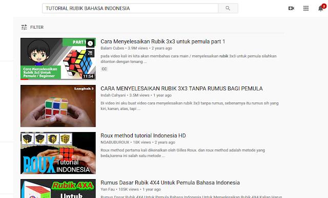 Carilah beberapa materi baru tentang dunia rubik di Youtube supaya kalian bisa ngabuburit dan menambah ilmu baru