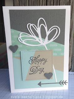 Geburtstagkarte mit stampin up produkten auf susis basteltipps demonstratorin in coburg