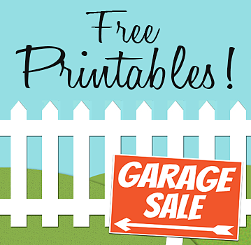 picture regarding Printable Garage Sale Signs identified as No cost PRINTABLES: Garage Sale Symptoms Expense Tags Craigslist