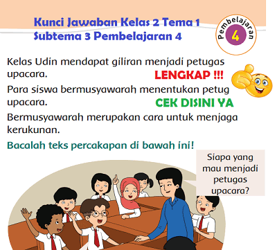 Kunci Jawaban Kelas 2 Tema 1 Subtema 3 Pembelajaran 4 www.simplenews.me