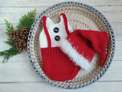 baby christmas santa suit newborn photo prop festive holiday costume