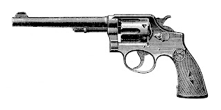 gun revolver antique illustration clipart digital download drawing