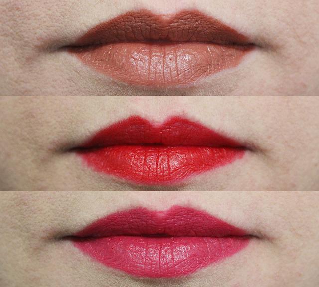 Swatchs des nouveaux rouges à lèvres Personnelle Cosmétiques