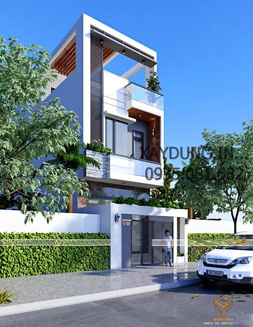mẫu nhà phố 2.5 tầng đơn giản hiện đại