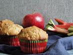 Recipe for Rhubarb, Apple Pecan Muffins
