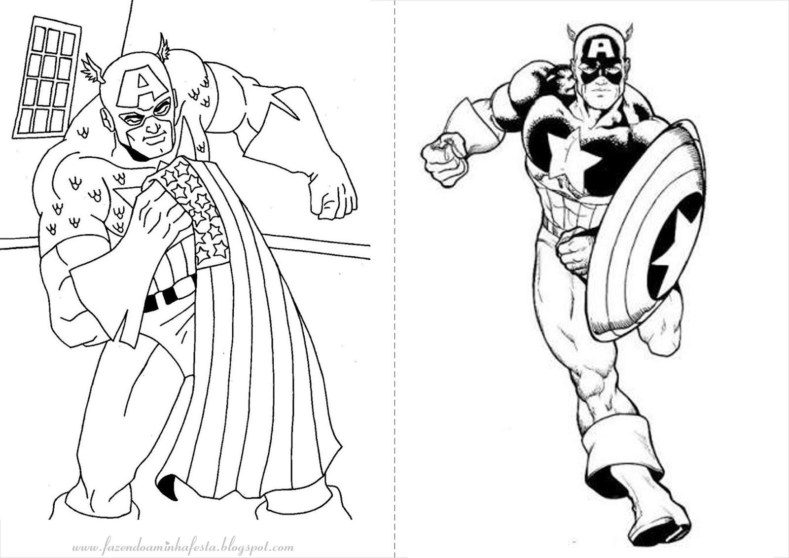 Inspirador Desenhos Para Imprimir E Colorir Os Vingadores