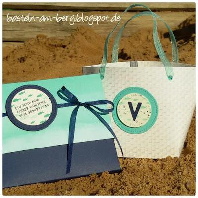 Strandtasche mit Schokoverpackung