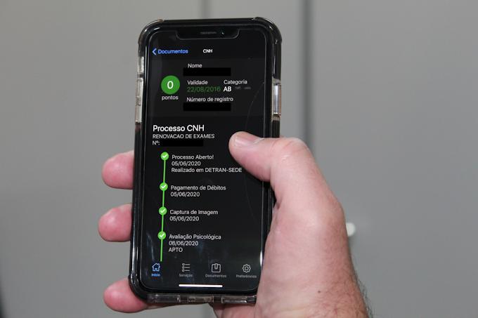 Renovação da CNH se tornou mais fácil com aplicativo MT Cidadão