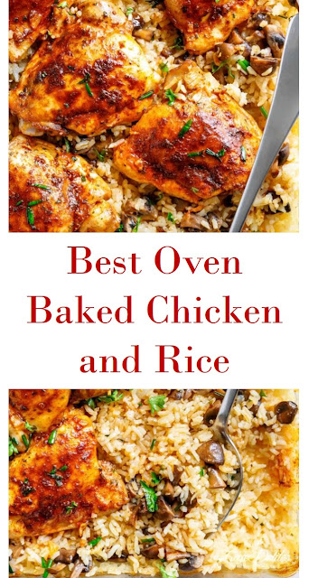 Oven Baked Chicken and Rice #Oven #Baked #Chicken #and #Rice #OvenBakedChickenandRice