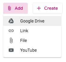 Add an attachment from Google Drive
