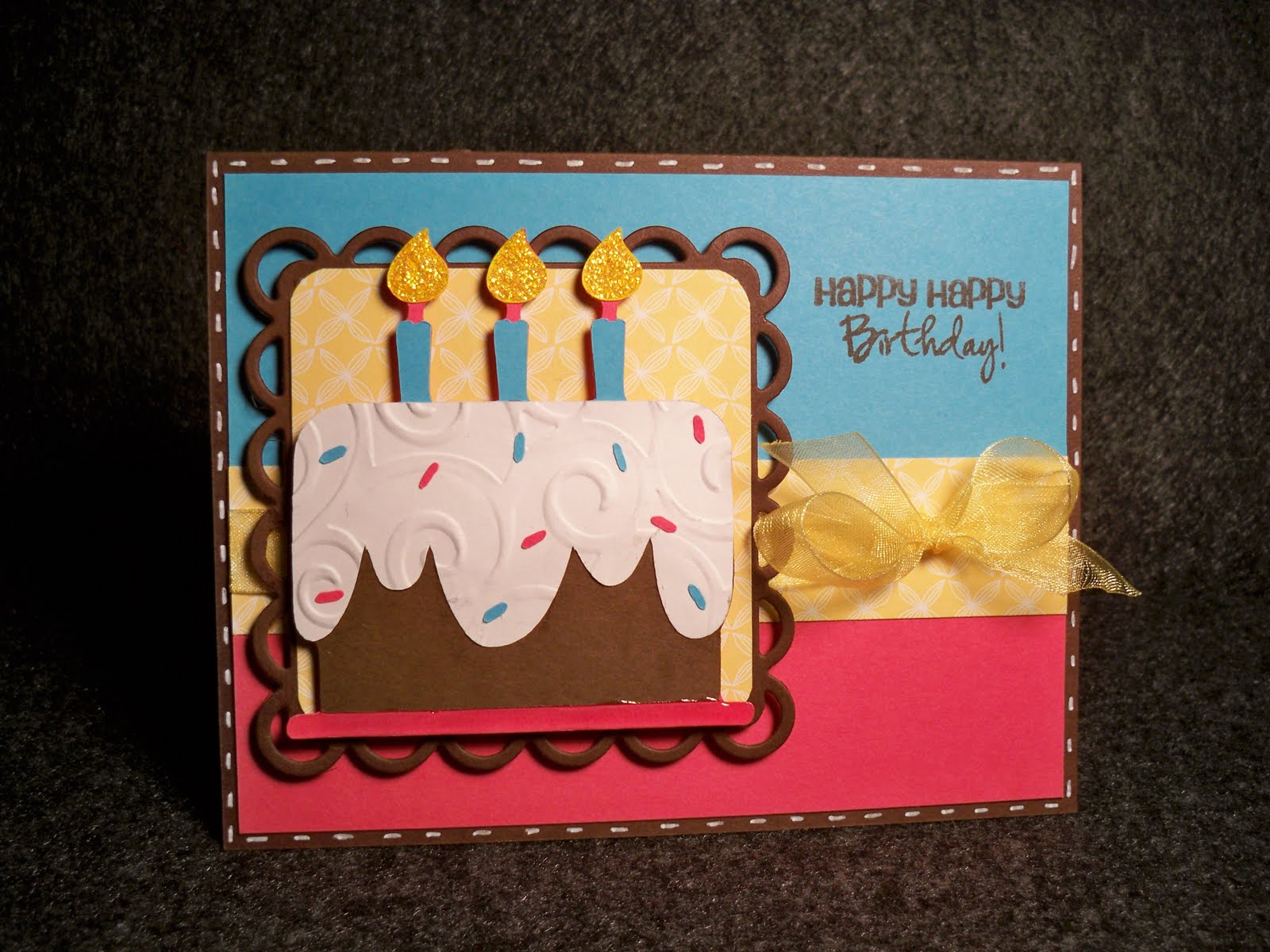 card creations  morec two birthday cake cards