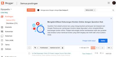 Gambar Posting Blogger.com Ajak Bloggernya Gabung Dengan Question Hub