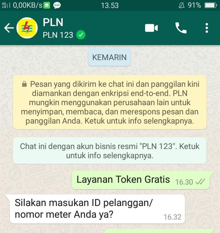 Cara Mendapatkan Layanan Listrik Gratis Dari WhatsApp