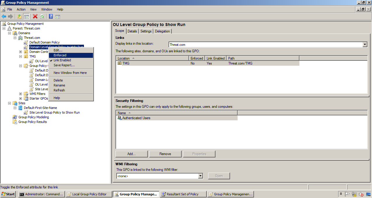 AD Shot Gyan: Group Policy Enforce and Block Inheritance