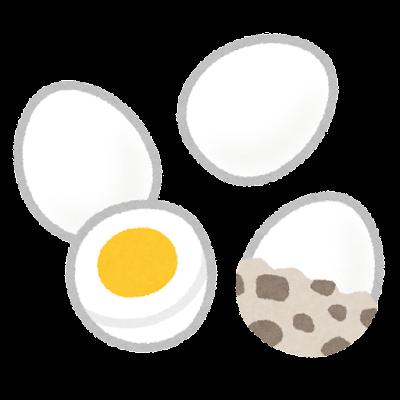 うずらのゆで卵のイラスト