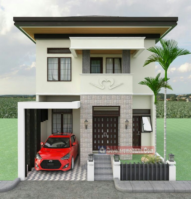 2-storey house design without terrace