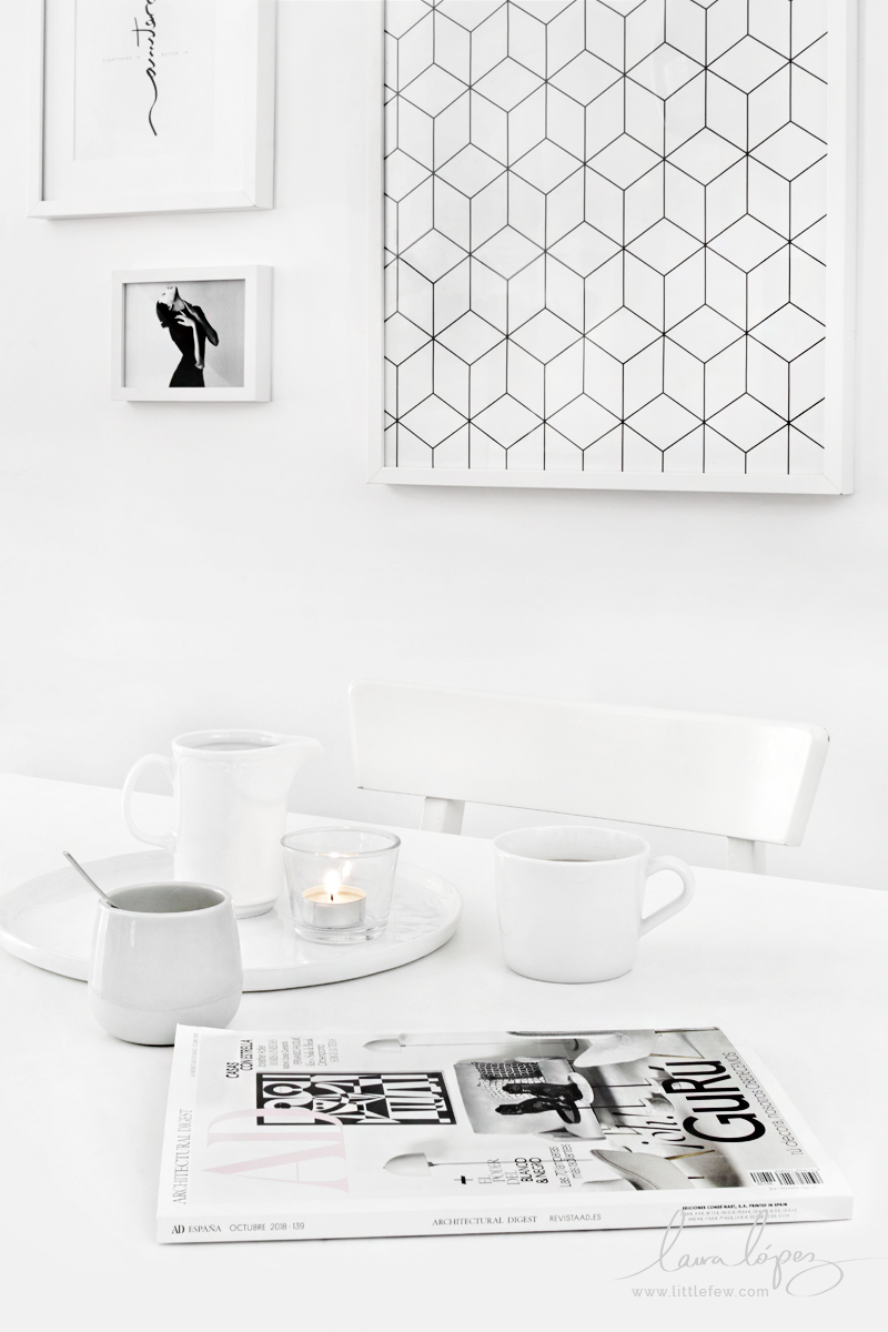 black and white Autumn decor