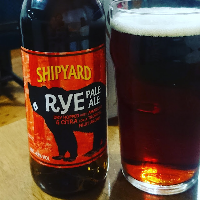 Maine Craft Beer Review: Rye Pale Ale from Shipyard