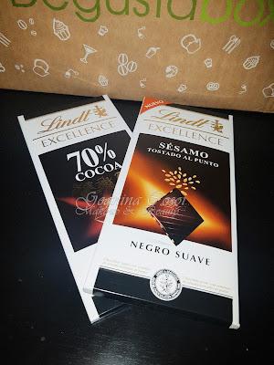 Lindt Excellence 70% y Sésamo Caja Degustabox - Diciembre '16