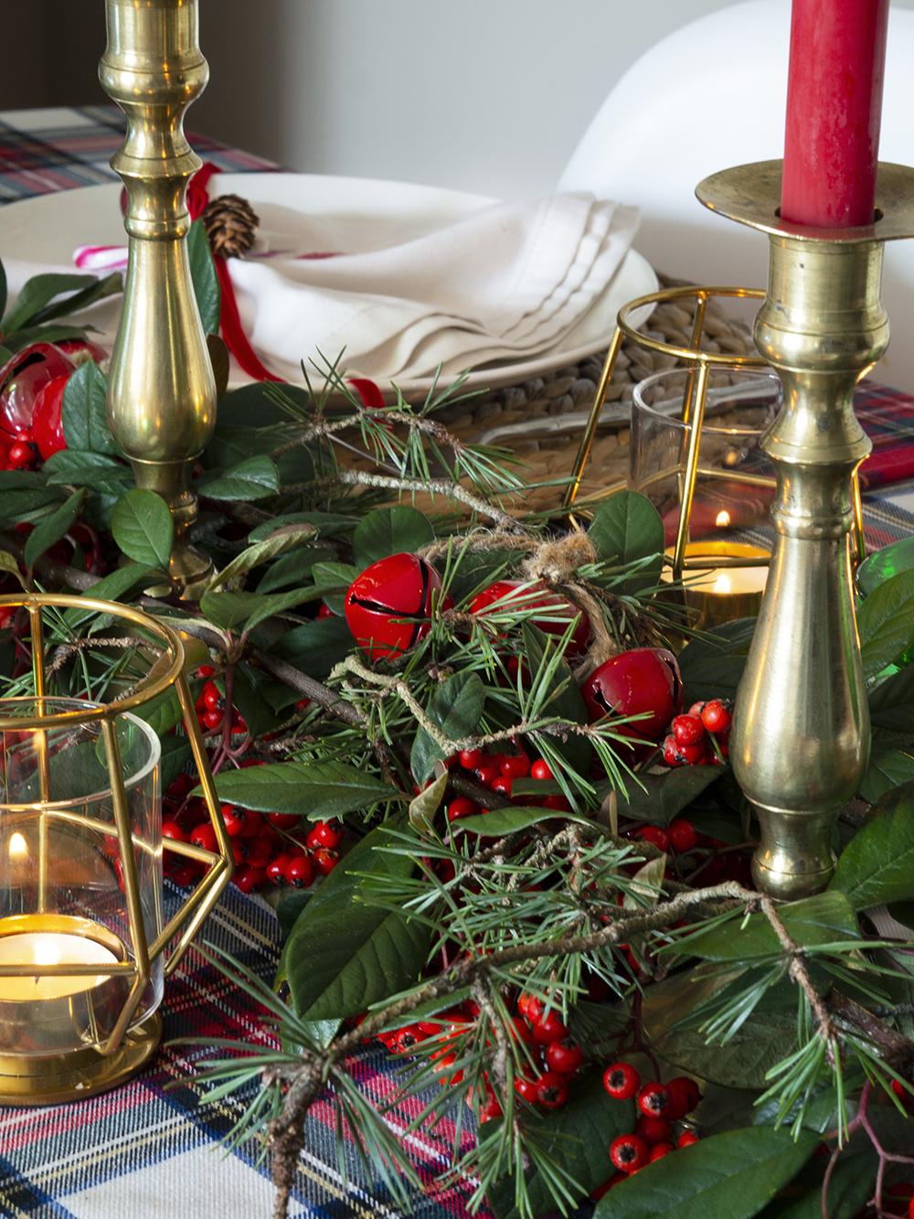 Nuestra mesa navideña en cuadros escoceses14