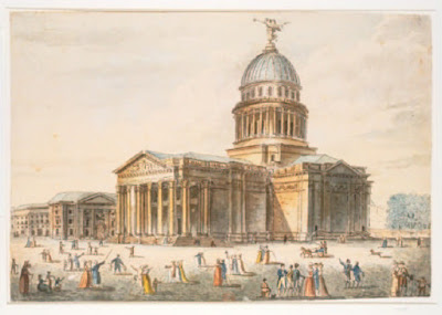 « Panthéon 1792 » par Pierre-Antoine de Machy — Image téléchargée du site de Galiica le 19 aût 2005. Sous licence Domaine public via Wikimedia Commons - https://commons.wikimedia.org/wiki/File:Panth%C3%A9on_1792.jpg#/media/File:Panth%C3%A9on_1792.jpg