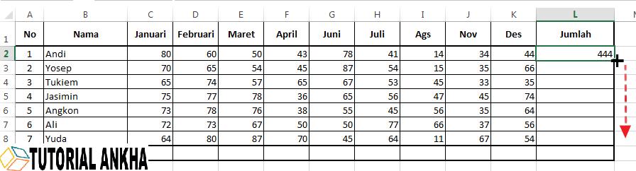 Cara mudah menggunakan Rumus Sum di Microsoft Excel lengkap