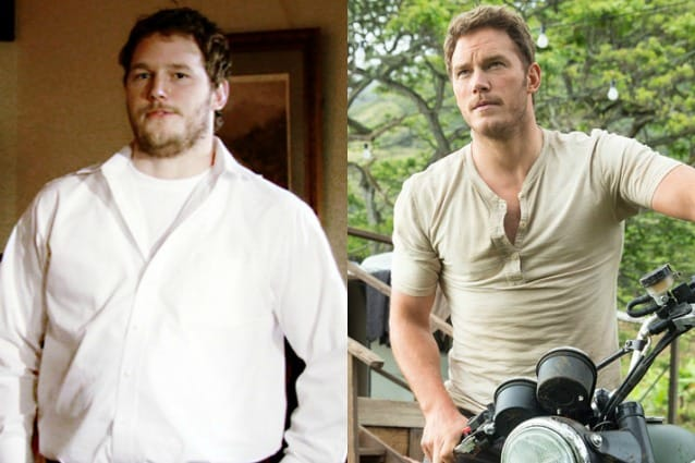Chris Pratt prima e dopo