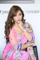Actress Angela Krislinzki in Pink Saree Blouse Exclusive Pics March 2017 ~  036.JPG