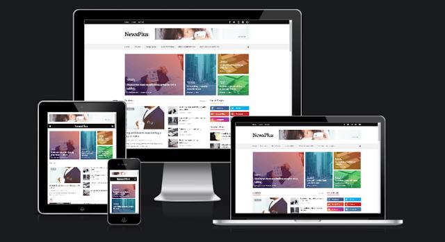 Newsplus Blog Magazine Blogger Template Free Download