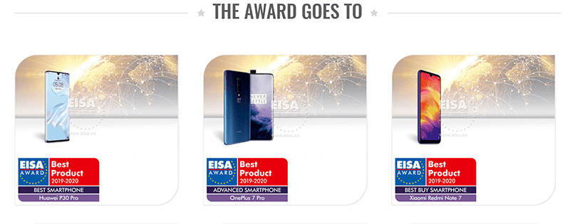 Huawei, HONOR, OnePlus, and Xiaomi wins big at EISA Mobile Awards