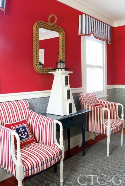 Decorative Lighthouse Nautical Entryway Decor Idea
